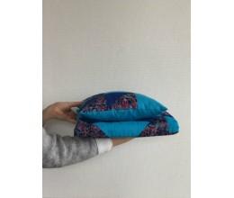 "Lovatiesės su pagalve komplektas (2 pledai ir pagalvė) ""Mėlyna Jūra"" 1"