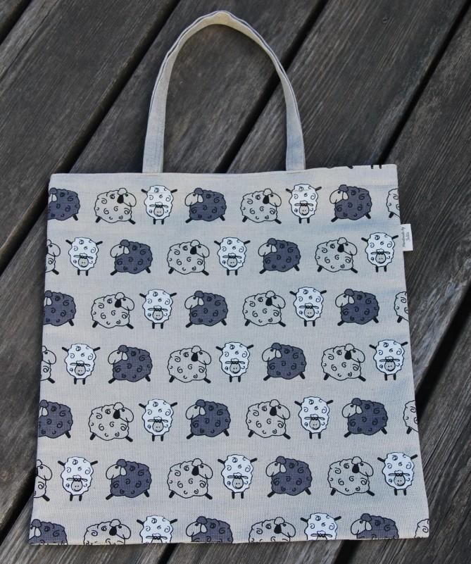 """Puslininis pirkinių krepšys, maišelis """"Avytės"""" 1"""