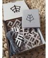 Mediniai kalėdiniai žaisliukai su baltiškais simboliais 4
