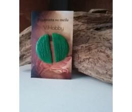 auskarai pusmėnuliukai žalia spalva 2