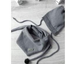 Vaikiška merino vilnos kepurė ir šalikas