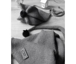 Vaikiška merino vilnos kepurė ir šalikas 1