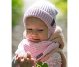 Vaikiška merino vilnos kepurės ir šaliko komplektas