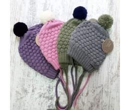 Vaikiška merino vilnos kepurė su bumbulu 1