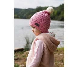 Vaikiška merino vilnos kepurė su bumbulu 5