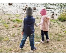 Vaikiška merino vilnos kepurė su bumbulu 4
