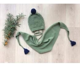 Vaikiška merino vilnos kepurė su bumbulu 7
