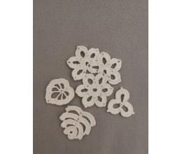 Lininis maišelis puoštas nertais motyvais (13x20) 5