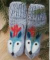 """Vilnoninės kojinės kūdikiams 9cm """"Elniukas"""" 1"""