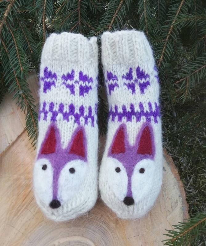 """Vilnoninės kojinės kūdikiams 12cm """"Laputė"""""""