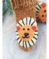 """Vilnoninės kojinės kūdikiams 9cm """"Liūtukas"""" 1"""