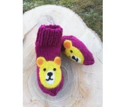"""Vilnoninės kojinės kūdikiams 9cm """"Meškutė"""" 2"""