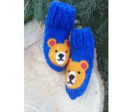 """Vilnoninės kojinės kūdikiams 9cm """"Meškinas"""" 2"""