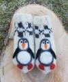"""Vilnoninės kojinės kūdikiams 10cm """"Pingvinukas"""""""