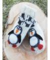 """Vilnoninės kojinės kūdikiams 10cm """"Pingvinukas"""" 1"""